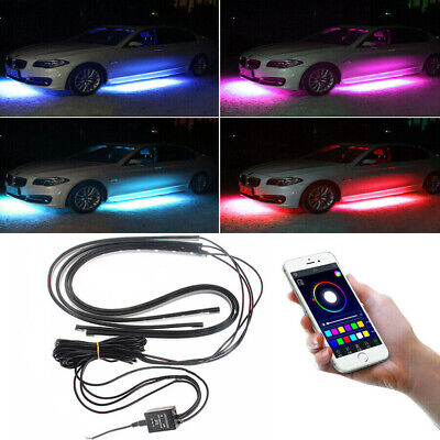 $34.99 • Buy APP Control LED RGB Light Strips Under Car Underbody Music Control Neon Glow Kit