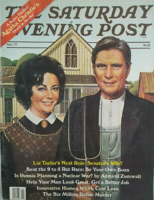 $ CDN10.76 • Buy The Saturday Evening Post Nov 1977 - Liz Taylor Norman Rockwell Cover - NoML  VG