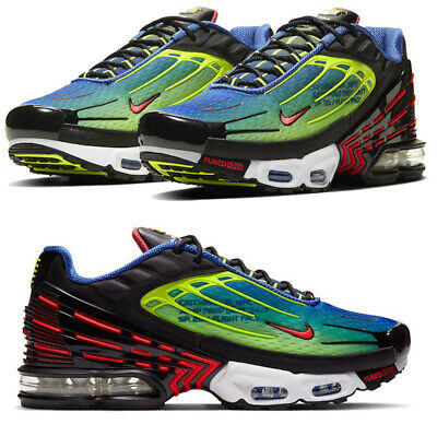 $179.99 • Buy New NIKE Air Max Plus 3 TN Men's Athletic Sneakers Black Red Volt All Sizes