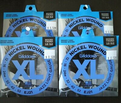 $ CDN26 • Buy 4 Sets Of Electric Guitar Strings D'Addario EJ21 Jazz Light