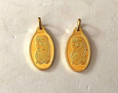 $ CDN1336.15 • Buy 2- 5 Gram  999.9 Fine Gold Oval Bars- Physical Inventory Immediate Shipping