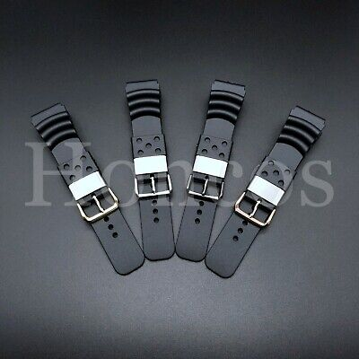 $ CDN19.62 • Buy 22 - 24 MM Black Silicone Rubber Watch Band Strap Fits Seiko Diver 2020 Model