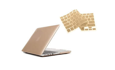 $7.99 • Buy Plastic Hard Case For MacBook Pro 15  W/ Keyboard Silicon Cover - Rose Gold