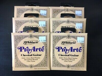 $ CDN53 • Buy 6 Sets Of Classical Guitar Strings D'Addario EJ44 Pro Arte Extra Hard Tension