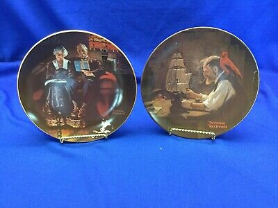 $ CDN53.34 • Buy Edwin M Knowles Norman Rockwell Plates [2] 8 1/2