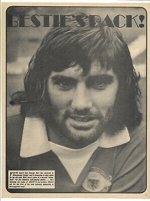 £2.99 • Buy Manchester United - George Best - 1973-74 Full Page Magazine Picture
