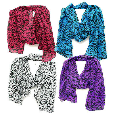$12.99 • Buy Leopard Scarf  Shawl Bandana Face Mask Neck Head Scarf 4 Color