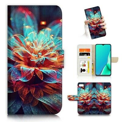 AU12.99 • Buy ( For Huawei Y5 2018 ) Wallet Flip Case Cover PB23089 Abstract Flower