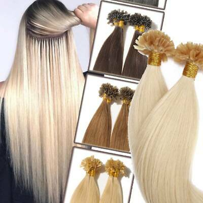 $24.23 • Buy Double Drawn Keratin Nail U Tip 100% Remy Human Hair Extensions Pre Bonded 200S