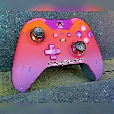 $225 • Buy Xbox  One Elite Wireless Controller Custom Cotton Candy Pink/p Led W Black Scuf