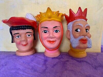$18.90 • Buy Vintage Toy Hand Puppet Rubber Vinyl Face Mr Rogers Toy Queen King Snow White