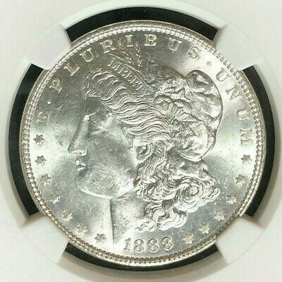 $75 • Buy 1888 Morgan Silver Dollar~ngc Ms 64 ~beautiful Coin~ Ref#28-041