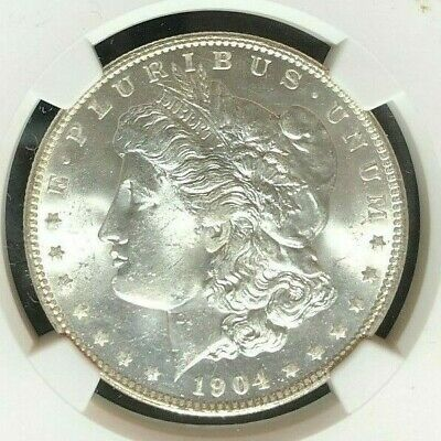 $69 • Buy 1904-o Morgan Silver Dollar~ngc Ms 64 ~beautiful Coin~ Ref#04-057