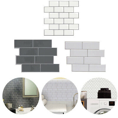 3D Self-Adhesive Kitchen Wall Tiles Bathroom Mosaic Brick Stickers Peel & Stick • 6.95£