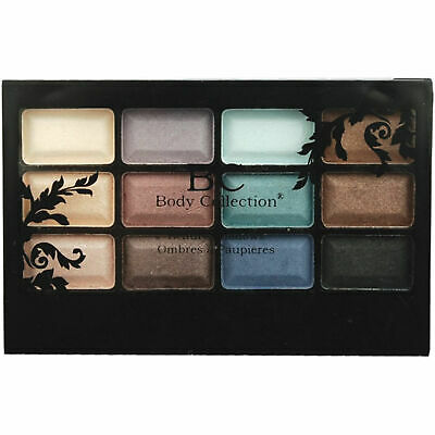 Body Collection Beauty Shadows 12 Shades Eyeshadow Palette Compact Sealed • 2.99£