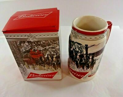 $ CDN32.44 • Buy NEW Budweiser 2017 Holiday Stein Christmas Beer Mug From Annual Series W/ COA