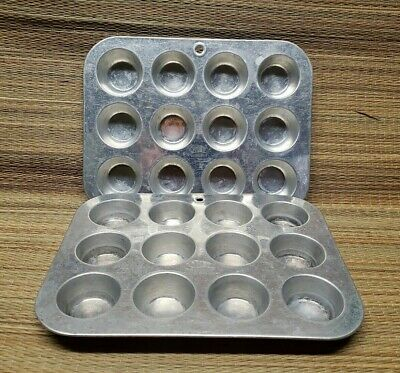 $9.99 • Buy Vintage Comet Mini Muffin Pan Set Of Two 12 Hole