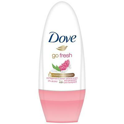 3 X Dove Go Fresh Roll On 50ml Each Pomegranate Anti-Perspirant Ladies Deodorant • 7.85£