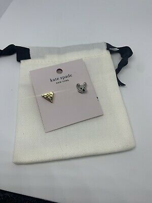$ CDN44.91 • Buy Authentic Kate Spade Year Of The Rat Mouse And Cheese Stud Earrings NWT Dust Bag