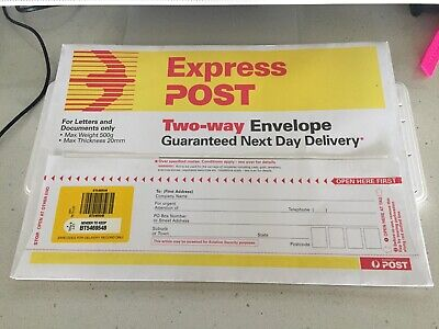 AU35 • Buy 2x Two-Way Express Post Envelopes B4
