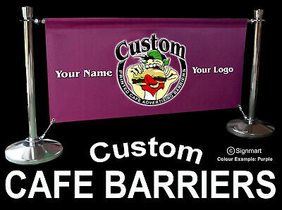 £225 • Buy 2 Mt OUTDOOR CAFE BARRIER SET ADVERTISING FOR MOBILE CATERING TRAILER + SIGNS