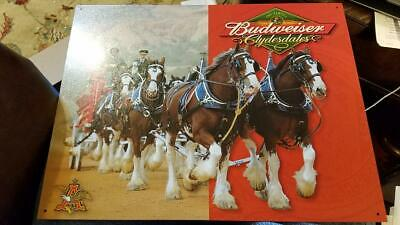 $ CDN11.67 • Buy BUDWEISER CLYDESDALE PULLING WAGON BREWIANA TIN SIGN 1281 12.5 X 16