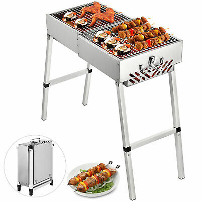 $ CDN88.31 • Buy Folding BBQ Charcoal Barbecue Grill 32 Camp Plus Stainless Steel Outdoor Toaster