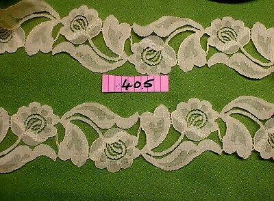 3m X 6cm  YELLOW Flower Pattern Trim.  Haberdashery Trim. (405) • 2.50£