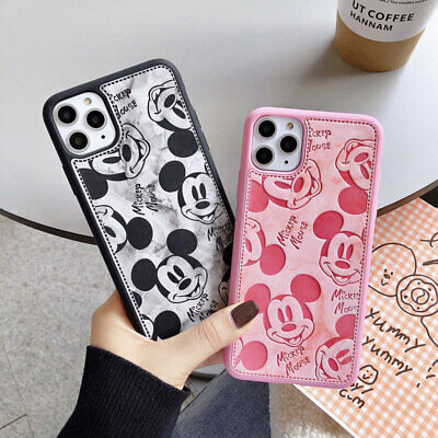 AU9.32 • Buy Disney Mickey Mouse Leather Case For IPhone 12 11 XR X 8 7 6 Cute Cartoon Cover