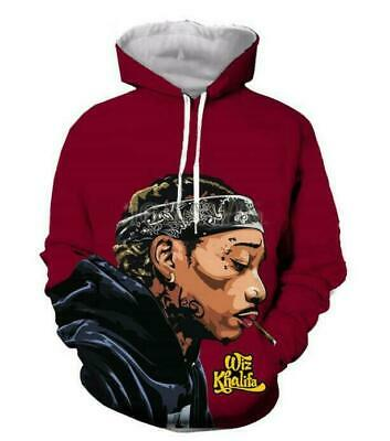 Fashion Rap Singer Wiz Khalifa 3d Print Men/Womens Hoodie Sweatshirt Pullover • 16.18£