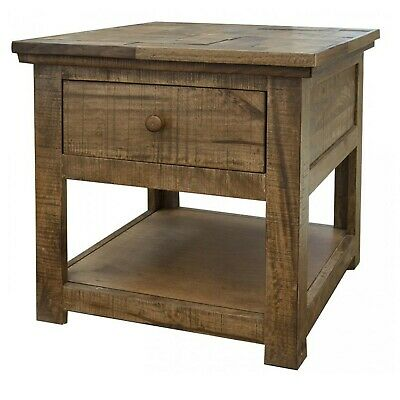 $430 • Buy Crafters And Weavers Clinton Rustic Hopscotch Top 1 Drawer End Table