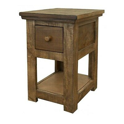 $275 • Buy Crafters And Weavers Clinton Rustic Hopscotch Top 1 Drawer Side Table