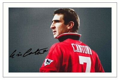 £1.89 • Buy Eric Cantona Manchester United Signed Autograph  Photo Print Soccer