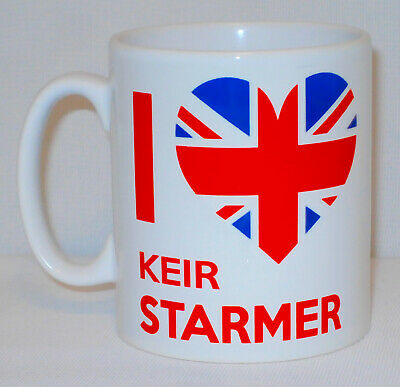 I Heart Keir Starmer Mug Any Name Labour Prime Minister Love Politics Sir Gift • 9.99£
