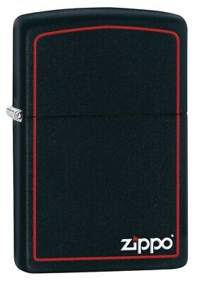 $20.78 • Buy Zippo Classic Black And Red Windproof Pocket Lighter, 218ZB