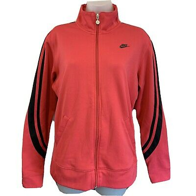 Nike  Womens Track Jacket L Large Pink Sports Zip Up Tracksuit Top • 15.90£