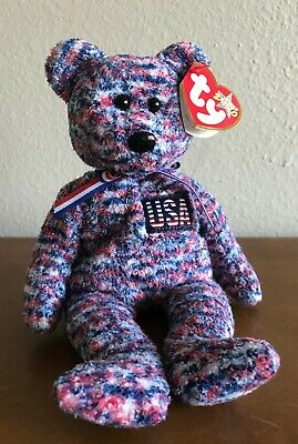 $189 • Buy USA The Bear Ty Beanie Baby – 2000 Original, USA EXCLUSIVE, MWMT, Ships FREE!