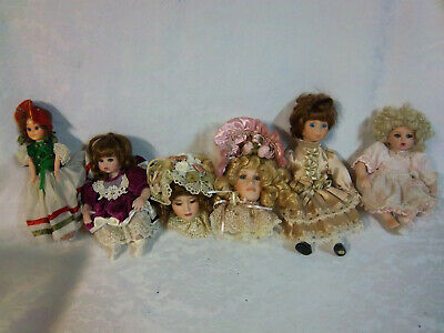 $ CDN37.23 • Buy 2 Victorian Head Ornaments Sitting Dolls Miniatures 6  Porcelain One Plastic