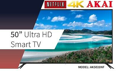 AU429 • Buy Akai 50-inch 4K UHD LED LCD Smart TV W/ USB, HDMI, NETFLIX, YOUTUBE AK5020NF