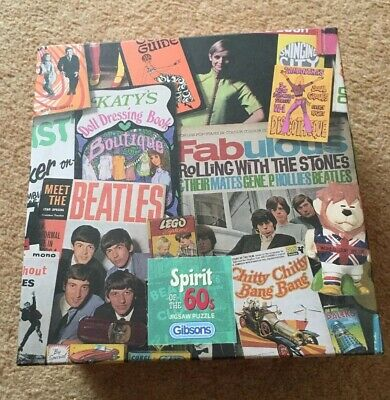 Gibsons Spirit Of The 60s 500 Piece Jigsaw Puzzle VINTAGE • 12.95£