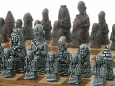 Ancient Egyptian Metallic Chess Set (steel And Copper, No Board) • 133.99£