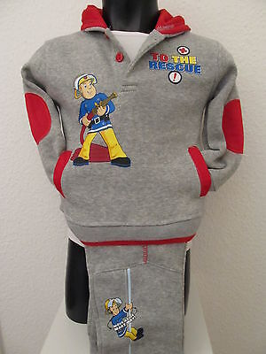 Baby Boys Jogging Suit Fireman Sam Leisure Suit Trousers Sweater Grey 62-68 • 18.90£