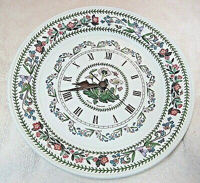 Botanic Garden Portmeirion Dinner Plate Daisy Wall Clock In Great Shape Works  • 50.20£
