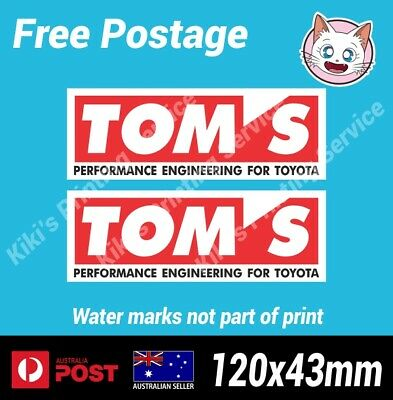 AU5.80 • Buy TOM'S Sticker Toyota Vinyl Decal AE86 4age Drift JDM Japan 1JZ 2JZ 4agze X2