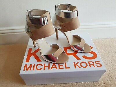 New Michael Kors Nude High Sandals Size 37 • 89.99£