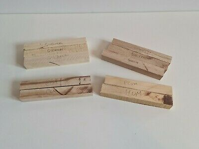 10x Mixed Woodturning Pen Blanks Sycamore, Elm ,plum ,beech • 9.99£