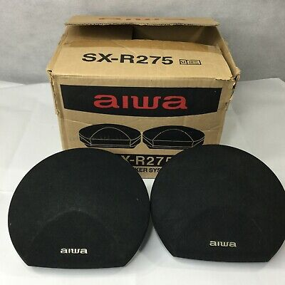 $33.99 • Buy Aiwa SX-R275 Surround Component Satellite Speakers 40 Watt 8 Ohms Lot 2 New