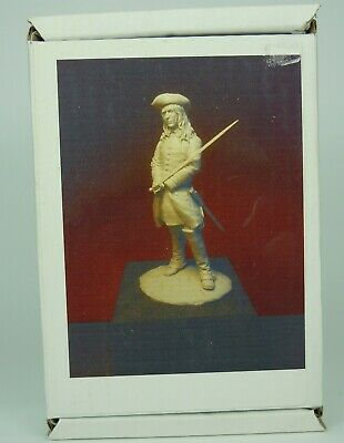 75mm Resin Figure HORSE AND MUSKET ERA  CAVALRY OFFICER FULL KIT BOXED VGC . • 30£