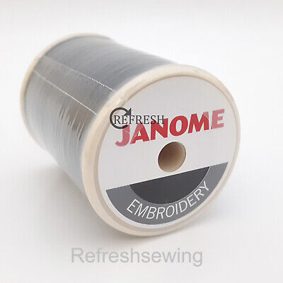 Genuine Janome Embroidery Machine Bobbin Thread Fill Black 800 Metre Spool • 8£