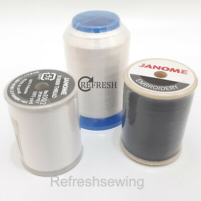 Genuine Janome Embroidery Machine Bobbin Thread / Fill Choice Available • 8£